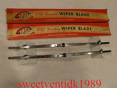"""'NOS' Trico Wiper Blades....15"""".....Shiny Stainless Steel"""