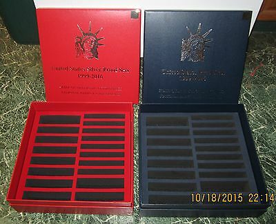 1999 - 2016 silver & clad (2) proof set STORAGE BOXES--