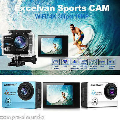 "2.0"" Sports Camera WiFi 30FPS 12/16MP H.264 30m Waterproof Action DV Camcorder"