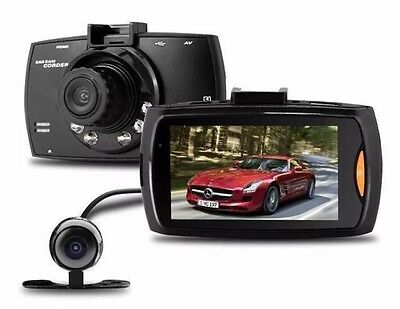 HD 1080P Car DVR Dual Lens Camera Video Recorder Rearview Dash Cam G-sensor UK