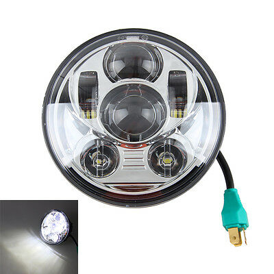 5.75 5 3/4 LED Faros DAYMAKER Negro Proyector Drl Para Harley Dyna Sportster