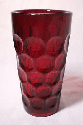 """Imperial PROVINCIAL Ruby Red Gorgeous FLAT ICED TEA TUMBLER 5-7/8"""" Great Shape!!"""
