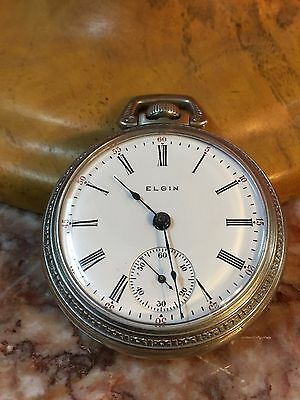 Antique Elgin Pocket Watch Swiss Movement Seven Jewels Made in USA c1907