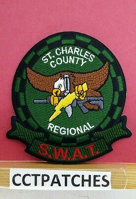 St Charles County, Missouri Regional Swat Subdued (Police) Shoulder Patch Mo