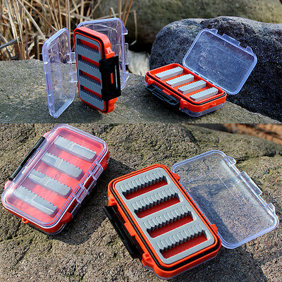 Double Side Waterproof Clear Fly Fishing Lure Bait Hook Tackle Storage Case Box