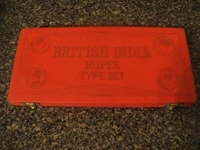 British India Silver Rupee Type Set 10 Coin box- BOX ONLY