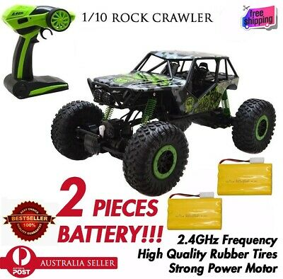 1/10 Remote Control 4WD Off Road Large Rock Crawler RTR RC Car GREEN 2 x Battery
