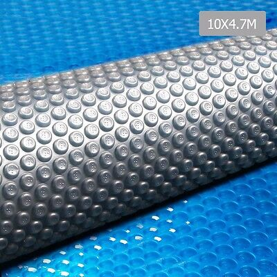 10X4.7M Solar Swimming Pool Cover Outdoor Bubble Blanket Isothermal 400 Micron
