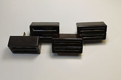 *Bulk* (4) Vintage General Electric Bakelite Power Taps in Brown