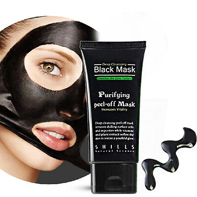 Face Mask SHILLS Nose Blackhead Acne Pore Deep Remover Cleansing Strip Black Mud