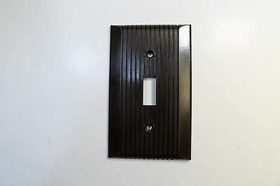 Vintage General Electric Bakelite Switch Cover in Brown