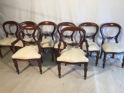 Sets 8, 10, 12, 14, 16, 18 Victorian Style Balloon Back Chairs French Polished.
