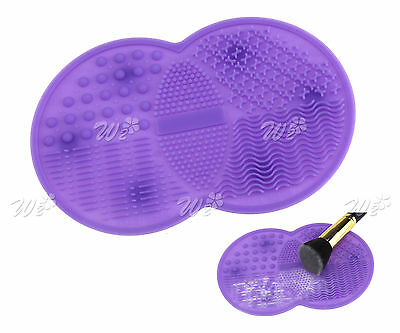 Makeup Brush Scrubber Board Cleaning Tool Cleaner Washing Mat Silicone Pad