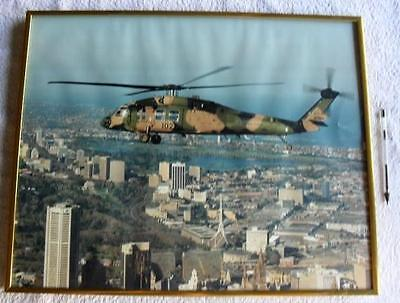Australian ARMY Sikorsky S70 Helicopter Original Large Framed Picture Photo