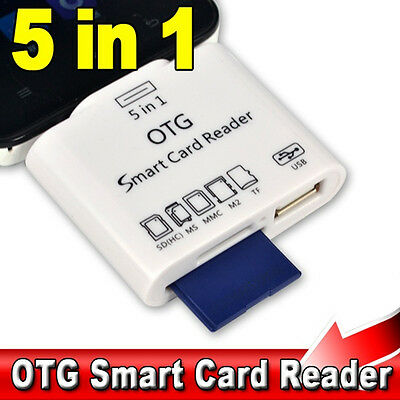 5 in1 Micro SD TF Card Reader+Micro USB 2.0 OTG Adapter Fr Android Phone Samsung