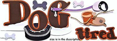 Jolee's Boutique 3-D Stickers  - Animals Pets Bones - Dogs - Dog Tired