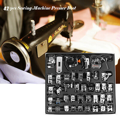 Sewing Machine Accessorie 42pcs Foot Feet set For Brother Singer/Janome/Domestic