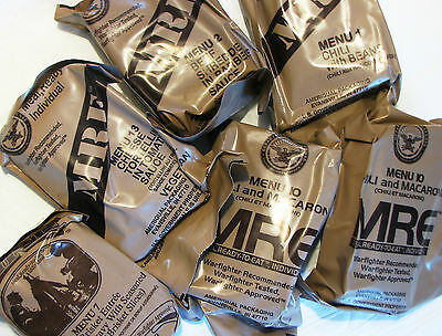 MRE US rations, meal ready to eat. PACKS x 6