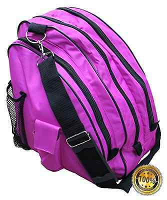 Sports Deluxe Skate Bag large compartments for ice Skates or roller blades,Berry