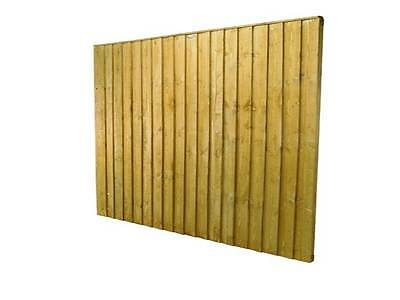 Feather Edge Board Fence Panel 6ft x 5ft Panel Fully Framed
