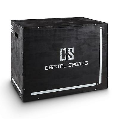 "Capital Sports Shineater 20"" 24"" 30"" Cross Train Fitness Plyo Wood Box 3 Heights"