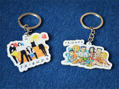 TV Series Friends Monica Acrylic Key Chain Cartoon 6 Characters Keyring Gift