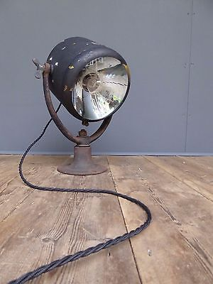 Early Antique Vintage Willocq Bottin Brass Search Light Lamp Industrial