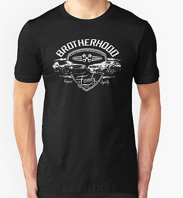 NEW Fast and Furious - Brotherhood Black Tshirt Size S-2XL