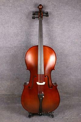 4/4 cello Maple Spruce wood Powerful Sound Full size Cello bag Hand Made
