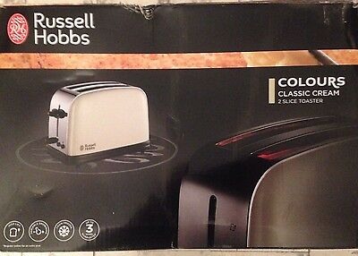 Russell Hobbs Classic Colours Cream 2 slice toaster
