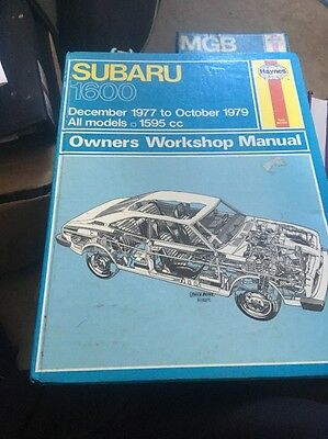Haynes Subaru 1600  Manual 77-79 Good Condition