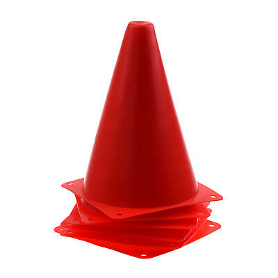 6x Safety Agility Cone for Football Soccer Sports Practice Drill Marking Red SH
