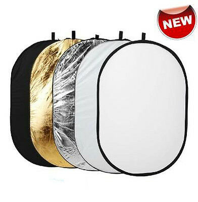 5 in 1 New Photography Collapsible Light Reflector Diffuser 60x90cm Set