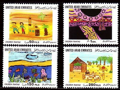 UAE 1999 ** Mi.627/30 Kunst Art | Kinderzeichnungen Children Paintings