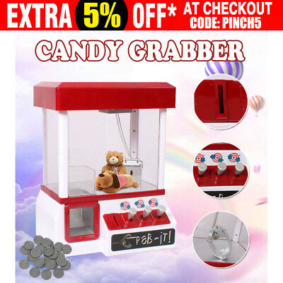 Carnival Style Vending Arcade Claw Candy Grabber Prize Machine Joystick Game Kid