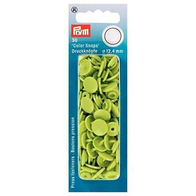 Prym 12.4mm Color Snaps Press Fasteners 30 sets