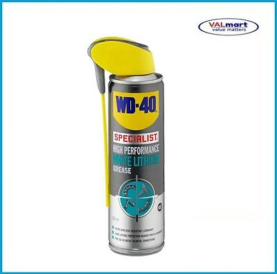 WD-40 WD40 High Performance White Lithium Grease 250ml Smart straw
