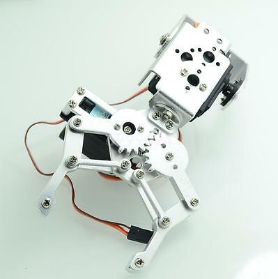 2 DOF Mechanical Robotic Arm MG995 Servo Bracket Claw Robot Kit Silver