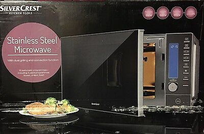 Stainless Steel Microwave 900w With Dual Grill 1500w