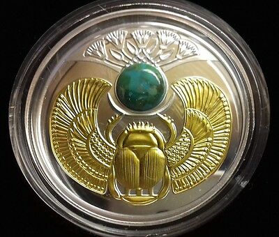 Niue 2017 1 Dollar Turquoise Scarab Beetle Proof Silver Coin