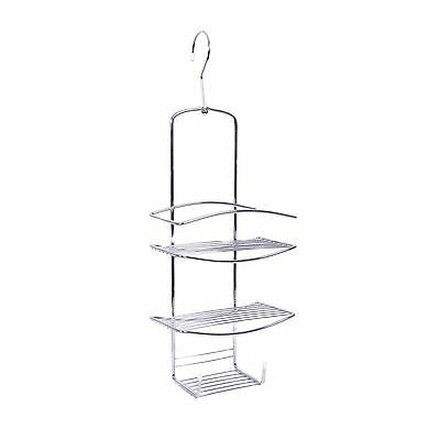 Zone Hardware SHOWER CADDY SC005 Swivel Hook, 2 Shelves With Soap Tray,  CHROME