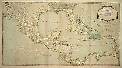 A New And Complete Map Of The West Indies Published By Laurie And Whittle 1810.