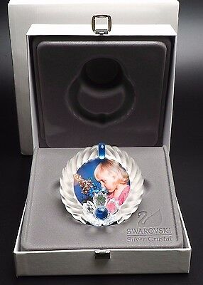 Swarovski Blue Flower Picture Frame With Both Boxes And Certificate 7506 000 001