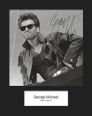 GEORGE MICHAEL #2 10x8 SIGNED Mounted Photo Print - FREE DELIVERY