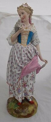 Paris Porcelain Figurine French Vion Baury Hand Painted Lady Height 43cm