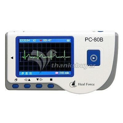 PC-80B Handheld ECG Monitor LCD Electrocardiogram Heart Monitor Recorder Health