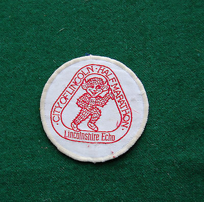 City of Lincoln Half Marathon Patch/Cloth Badge - Vintage UK Sport/Running -Echo