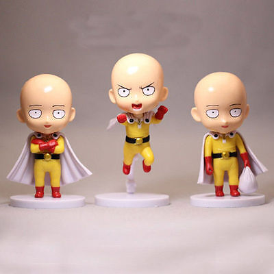 "Nendoroid ONE PUNCH-MAN Saitama 3pcs Set 3.93"" Figure Figurine Toy on Box"