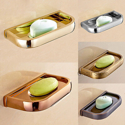 Simple Retro Brass Bathroom Shower Soap Shelf Wall Mount Soap Dish Case Holder