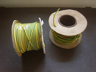 5 metres Earth Green Yellow 2.5mm Single Core 6491B Round Insulated Conduit Wire